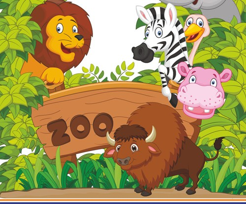Znalezione obrazy dla zapytania zoo rysunek